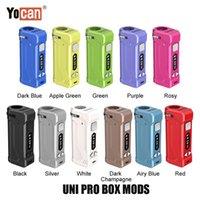 11 개 색상 최신 100 % Origianl Yocan UNI는 모두 510 실 카트 카트리지 Ecig 정품에 대한 상자 모 650mAh 예열 VV Vape 배터리 PRO