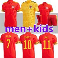 Adulte Kids 2020 2021 Pays de Galles Bale Bale Soccer Jerseys James 20 21 Accueil Ecosse Scotland McGinn Lewis Shankland Findlay Team National Team Football Shirts