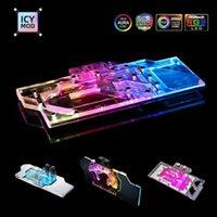 Raffreddamenti per ventilatori Personalizza Completa copertura GPU Blocco idrico per NVIDIA AMD Gigabyte MSI Zotac VGA A-RGB 12V / 5V Cooler Cooler Custom PC Cooling