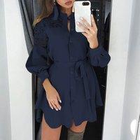 Мода Летняя Рубашка Платье Женская Кружевная Стеклянная Санктра Занцеа 2020 Минги Вестидос Женская Туника Обезвременная 7