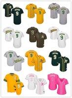 Пользовательские Oakland Oaklandhtlets 9 Reggie Jackson бейсбол Джерси атлетика бейсбол носить мужчины Женщины молодежь майки малыша любое имя любое имя