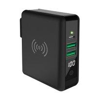 무선 전원 은행 배달 18W 빠른 벽 충전기 및 QI 호환 10W PowerBank Universal 어댑터 iPhone X 용
