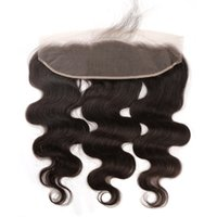 Body Wave Lace Frontal Closure 13x4 Brazilian Virgin Hair Weaves Middle Part Top Closures Unprocessed Lace Frontal Hairpieces Great Remy