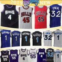 45MJ Shaquille 32 Penny Hardaway Tracy 1 ONeal 1 de McGrady Jason Williams 55 Chris 4 maillots de basket-ball Webber