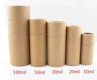 Крафт бумаги картон эфирное масло бутылки канистра крафт-трубки цилиндр круглый банку упаковка подарочной коробке подарочная упаковка 10 мл 20 мл 30 мл 50 мл 100 мл