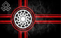 أحد أسود العلم Kolovrat السلافية رمز الشمس عجلة Svarog الانقلاب العلم 3x5FT 90x150CM العلم مخصص ديكور المنزل البوليستر الديكور