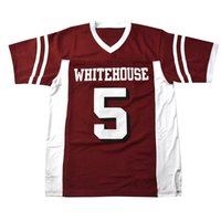 Custom Retro Patrick Mahomes Whitehouse Head School Football Jersey Football Men's Tous cousus Livraison Gratuite Mesh n'importe quel nom