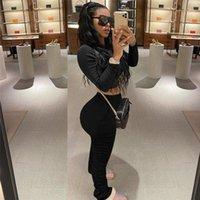 Sleeve Womens Clothes Sexy Casual Suits Reset 2020 Womens Designer Tracksuits Solid Color 2PCS Sets Pencil Pants Long