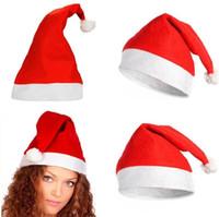 Günstigste Santa Hat Ultra Soft Plüsch Cosplay Weihnachtsmützen Weihnachtsdekoration Erwachsene Kinder Weihnachten Home Garten-Party-Hüte