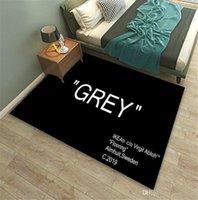 문자 디자인 카펫 패션 그레이 블랙 레드 프린트 러그 새로운 스키드 저항 카펫 인기 로고 매트