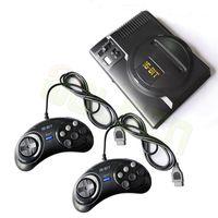 (208) 다른 내장 게임 두 게임 패드 AV 출력과 최신 레트로 미니 TV 비디오 게임 콘솔 세가 메가 드라이브 16 비트 게임