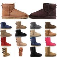 stivali di alta qualità classici stivaletti da neve per le donne ragazze caviglia arco corto stivaletti donne di avvio invernale progettista signore di modo outdoor