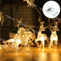 Weihnachtsbeleuchtung LED-Saiten Sika Hirsch 10LEDS 20LEDS Multicolour 6500K 3000K Feiertagsbeleuchtung für Innenhof Dekoration DHL