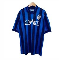 1991 1992 1996 1997 retro Atalanta a.C. Início azul Futebol L.MURIEL Iličić GOMEZ Feule DUVAN DE SALA Futebol do vintage camiseta
