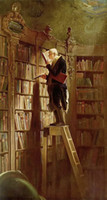 Carl Spitzweg The bookworm Librarian Wall Decor Oil Painting...