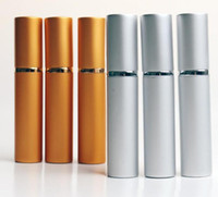 8ML Moda de viagem de alumínio Perfume com frasco de aço Roll On vazios Refinamento Óleos essenciais frascos