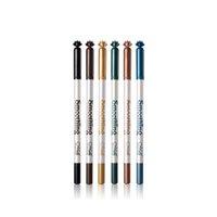6 color Plumas de sombra de ojos lápiz delineador de ojos aclaran Reparación alta capacidad de aligerar la pluma de la belleza de Comestic larga duración Lápiz Delineador Ojos