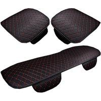 Accessoires de voiture Housses de Coussin universel PU Sièges en cuir Intérieur arrière avant Recouvre Chaise Auto Protecteur Mat