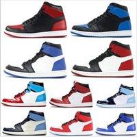 2020 أحذية أزياء الرجال لكرة السلة وصول جديدة 1S الأعلى OG قرمزي تينت المحكمة بيربل الحب الأصفر Jumpman ولدت المرأة الاحذية أحذية رياضية مع مربع