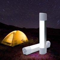 Lanternas portáteis ao ar livre LED TENT Light USB carregando Handheld Camping Caminhadas Reparando Lâmpada Noite Com Ímã Lanterna Trabalho
