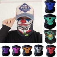 US Stock Skull Joker Masques Designer bandanas Magic Mask Riding Tube Foulard cou visage Sport Bandeau magique Foulards Bandana FY9190