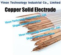 0.3x400mm銅固体電極(200ピン/ロット)、固体銅棒EDM電極DIA 0.3 mm、放電加工に使用される長さ400mm