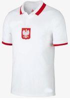 NUOVO 20 21 21 21 Polonia Jerseys Soccer Home Away National Team 2020 2021 Glik Lewandowski Szymanski Zielinski Camisetas Camicie da calcio Tailandia