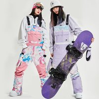 2020 Pantalon de ski d'hiver pour les femmes imperméable Snowboard Femme bavoir Sports de plein air Pantalons pour femmes Pantalons coupe-vent bretelles Felmale