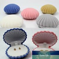 Boîtes de bijoux et d'emballage mixte 6.5 * 5.5 * 3cm Collier / Boucles d'oreilles / anneau organisateur forme Shell boîte-cadeau pour l'affichage de bijoux