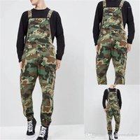 Lange Hosen Camouflage Denim Mens Overalls Designer Printed Jeans Overalls Mode schlanke Männer
