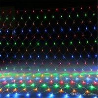 Lámparas 8m * 10m * 6M 4M 3M 2M * 2m * 2m * 1.5M 1.5M LED MeshString luces netas de techo fiesta de Navidad decoración de la boda al aire libre