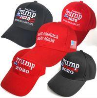 Rot schwarz weiß 2020 Make Amerika Great Again Hat Stickerei halten Amerika Großer Hut republikanischen Präsidenten Donald Trump Kappen
