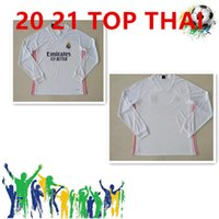 2020 2021 Real Madrid Jerseys 20 21 Soccer Jersey Hazard Sergio Ramos Benzema Vinicius Camiseta Camicia da calcio Uniformi Manica lunga Maglia