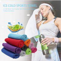 Confortable Ice Cold Serviette Gym Fitness Sport Exercice Serviette de refroidissement à sec rapide été en plein air Transpiration évaporation serviette DDA388