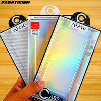 iPhone 12 11 pro Max XR 7 8 Artı Cep Telefonu Kılıfı için Paket Kutusu Packaging Lazer Blister PVC Plastik Şeffaf Perakende