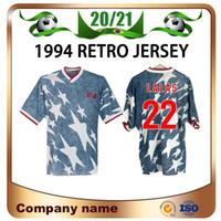 1994 كأس العالم بعيدا Soccer Jersey 1994 Lalas Stewart Wegerle Soccer Shirt أمريكا المنتخب الوطني بالبوا كرة القدم