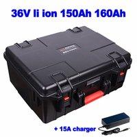 Impermeable maleta 36v 150Ah 160Ah litio ion lipo batería para robot calle marina crucero barredora AGV carretilla elevadora + 15A cargador