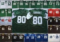 NCAA Vintage Fußball genäht Jersey Mens Jerseys 40 Pat Tillman 7 Morten Andersen 57 Rickey Jackson 80 Wayne Chrebet 85 Wesley Walker Joe Namath