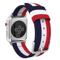 Sport-Uhrenarmband passend für Apple-Uhr-42 44mm weiche atmungsaktive Nylon-Armband Für iWatch Series 5 4 3 2 1 Uhrenarmband