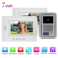 Zhudele 1V2 LCD 7in Video Door Phone Security Intercom ID Ca...
