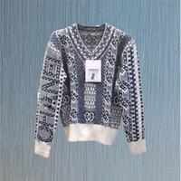 New Fashion Catwalk Knit pullover con scollo a maniche lunghe maglione a maniche lunghe cappotto casual cappotto a maniche lunghe spedizione gratuita