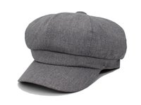 Mode octogonales Chapeaux femmes Cap Beret chapeaux pour hommes femmes hiver Corduroy plat printemps Boina Homme Newsboy Caps Chapeau solide