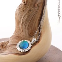 New LuxuryWomens Real Silver Emotional Control Mood Color Member Cleance Ожерелье для подарка