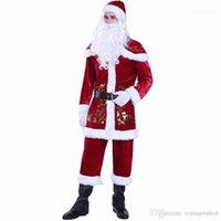 Moda para Mujer de Santa Claus tema del traje de Cosplay de la ropa a juego Pareja Feliz Navidad Diseñador de ropa para hombre de Cosplay