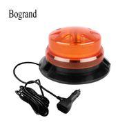 Semaforo Bogrand 9-28 V LED rotante lampeggiante ambra d'ambra strobo di emergenza Avvertimento Beacon con magnetico