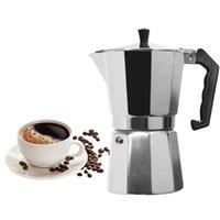 VOCORY Cafetera de aluminio Mocha Espresso percolador Pot Cafetera Moka Pot 1 taza / 3cup / 6cup / 9cup / 12cup quemadores