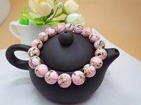 Бисера Браслеты Shell Бирюзовый Браслеты День рождения Подарки Браслеты для женщин природных камней для ювелирных изделий Бисер Стороны,