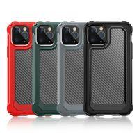 Carbone Fibre Chauge Конечная корпус для защиты от мобильных телефонов для iPhone XS 11 PRO MAX XR 6 7 8 плюс кристалл прозрачный мобильный телефон