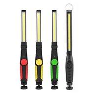 휴대용 초 롱 USB 충전식 COB LED 작업 가벼운 토치 다기능 마그네틱 랜턴 야영 조명 야간 램프