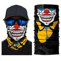 Halloween Skeleton Face Mask Scarf Joker Headband Balaclavas Skull Masquerade Masks for Ski Motorcycle Cycling Fishing Outdoor Sports FY6098
